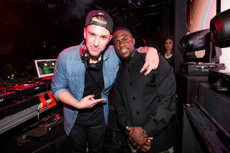 Dj Eric Dlux and Kevin Hart