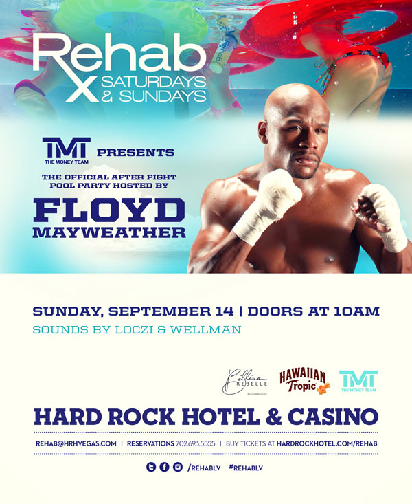 Floyd Mayweather at Rehab Las Vegas