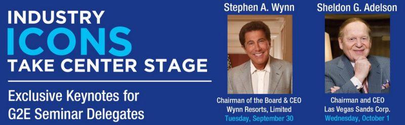 Global Gaming Expo (G2E) - Steve Wynn & Sheldon Adelson