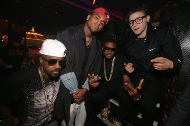 Jermaine Dupri, Chris Brown, Usher, and Skrillex at XS