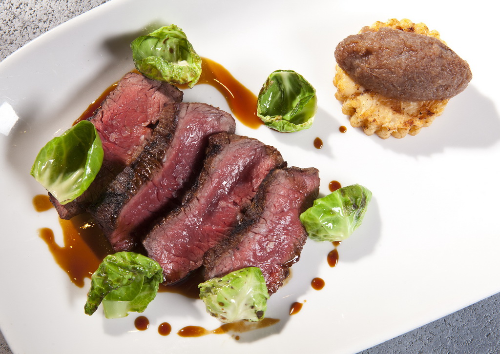 Beef Filet at CRUSH, eat, drink, love, by Jim Decker