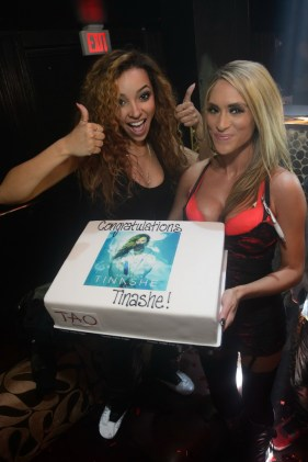 Tinashe With Aquarius Album Cake at TAO