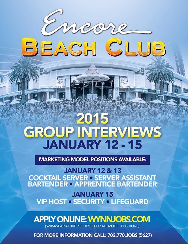 Encore Beach Club Group Interviews
