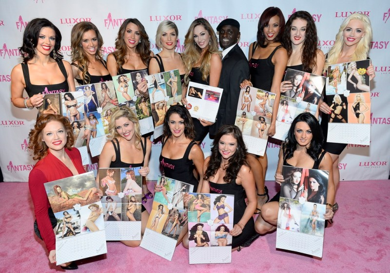 The Cast of FANTASY Debuting the 2015 'Fulfilling Fantasies for 15 Years' Calendar
