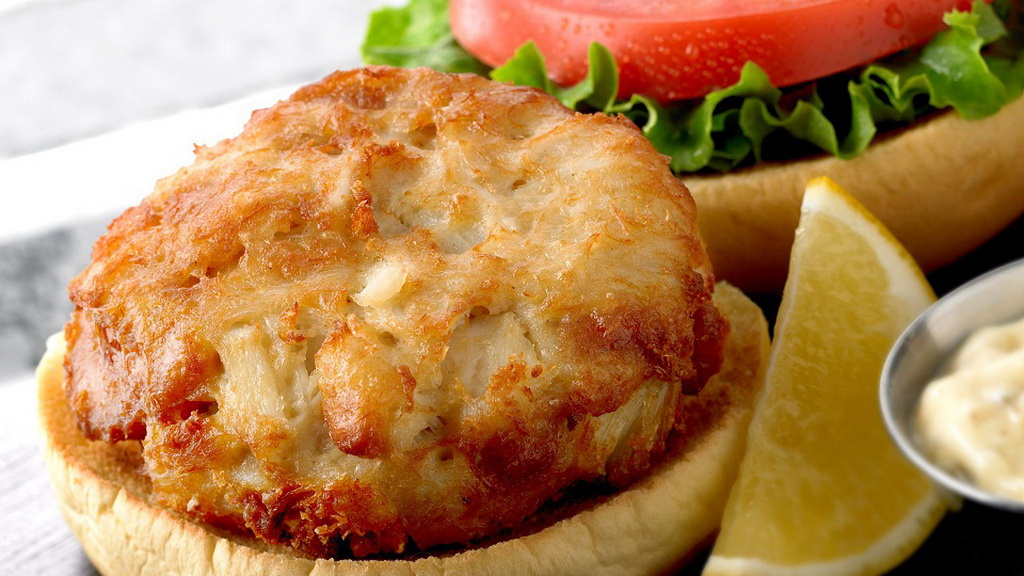 Phillips Seafood Crab Cake Sandwich at Forum Food Court
