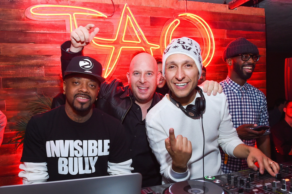 Jermaine Dupri, Noah Tepperberg, and DJ Vice at Elyx presents TAO Nightclub at Sundance
