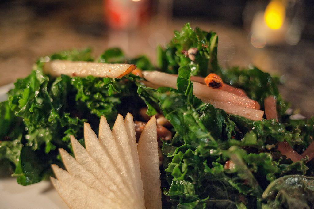 Lucky Foos Kale Caesar Salad