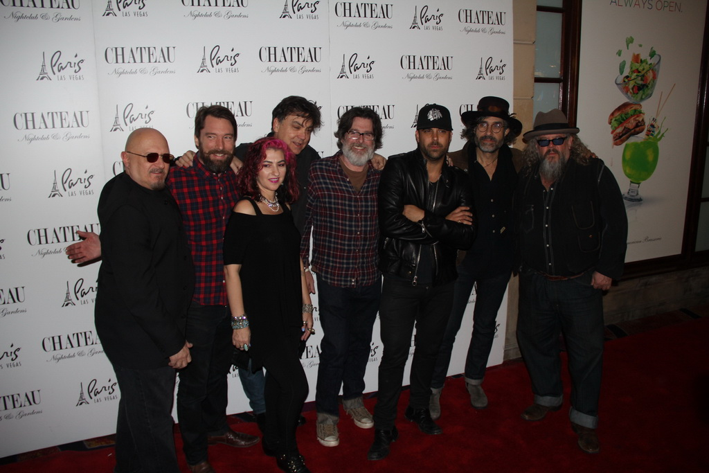 Mark Boone Junior with The Forest  Rangers and Franky Perez on Chateau Red Carpet