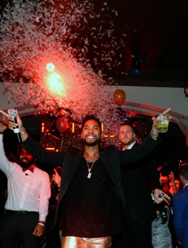 Miguel during the final New Year's Eve countdown at Hyde Bellagio, Las Vegas 12.31.14