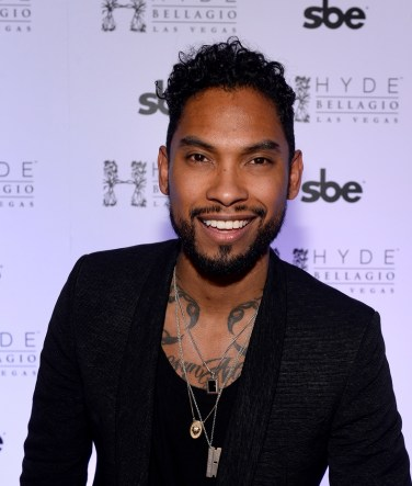 Miguel walks the red carpet at Hyde Bellagio, Las Vegas 12.31.14