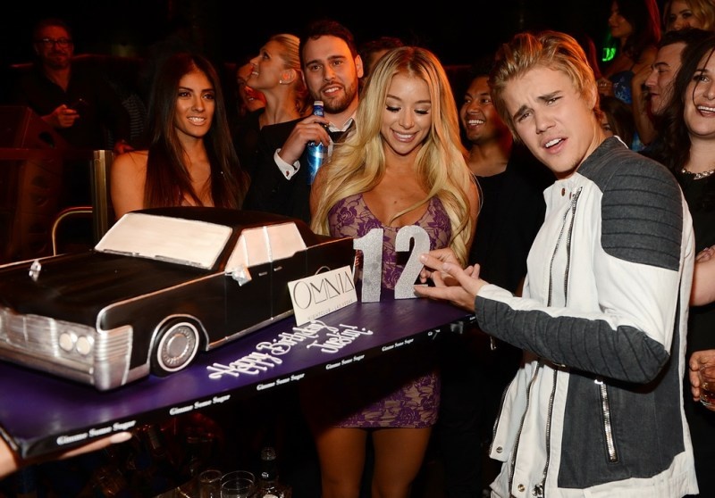 Justin Bieber celebrates his 21st birthday at OMNIA Nightclub