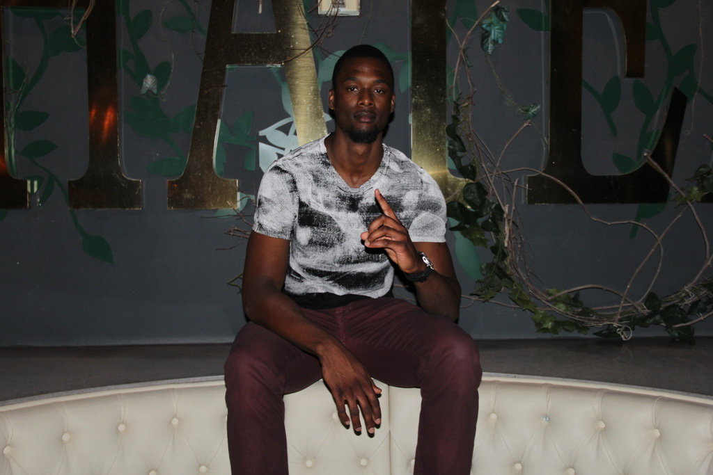 Harrison Barnes inside Chateau Nightclub & Rooftop