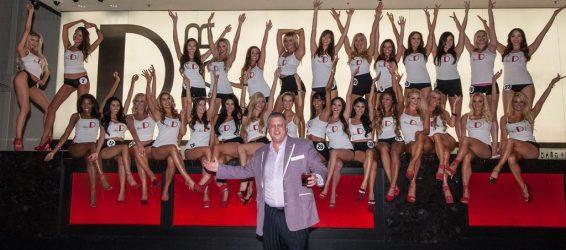 Miss D Legs Contestants with Derek Stevens at D Bar (Glenn Brogan)