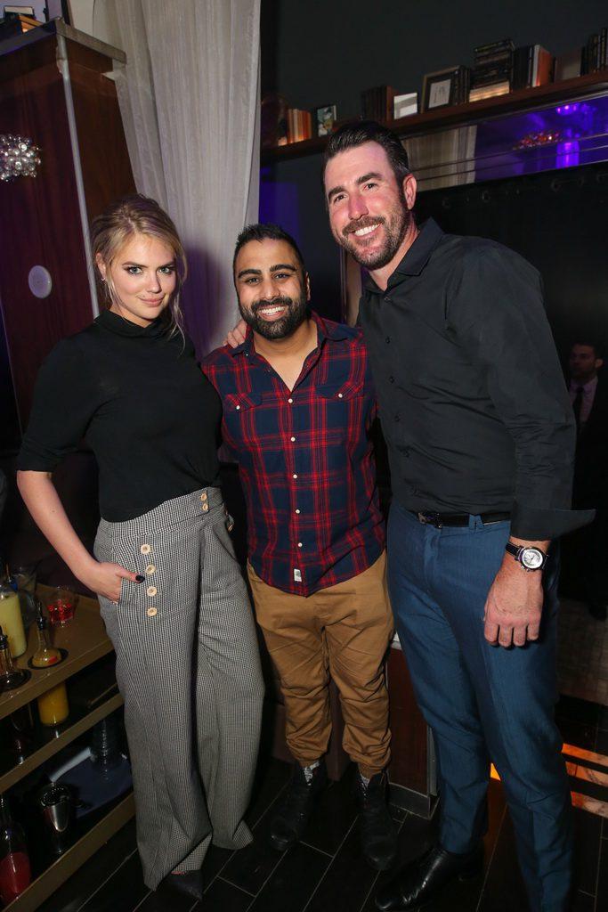 Kate Upton, Anup Patel and Justin  Verlander at Hyde Bellagio