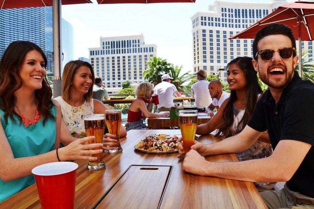 Guests Enjoying Beer Park by Tara Woodall