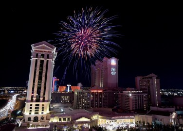 Red Bull & Fireworks at Caesars Palace