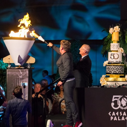 Gordon Ramsay at Caesars Palace 50th Anniversary Celebration Weekend