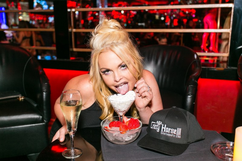 Jesse Jane Eating Dessert by Jeff Ragazzo