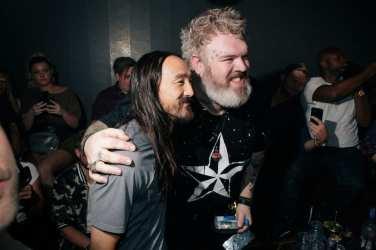 Steve Aoki and Kristian Nairn at Hakkasan Las Vegas