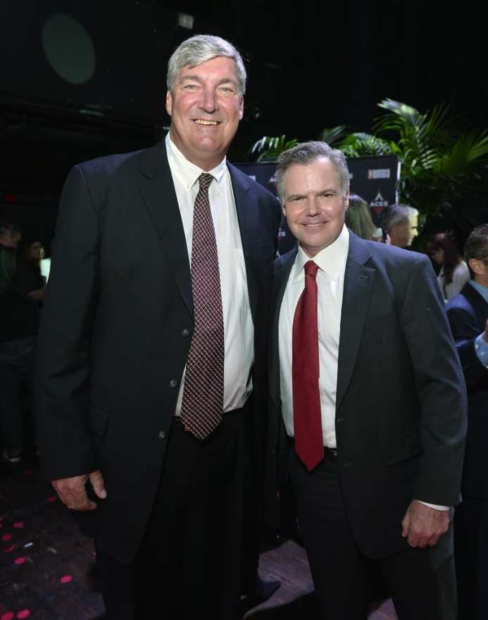 Bill Laimbeer & Jim Murren at Las Vegas Aces & MGM Resorts Press Event