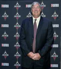 Bill Laimbeer at Las Vegas Aces & MGM Resorts Press Event