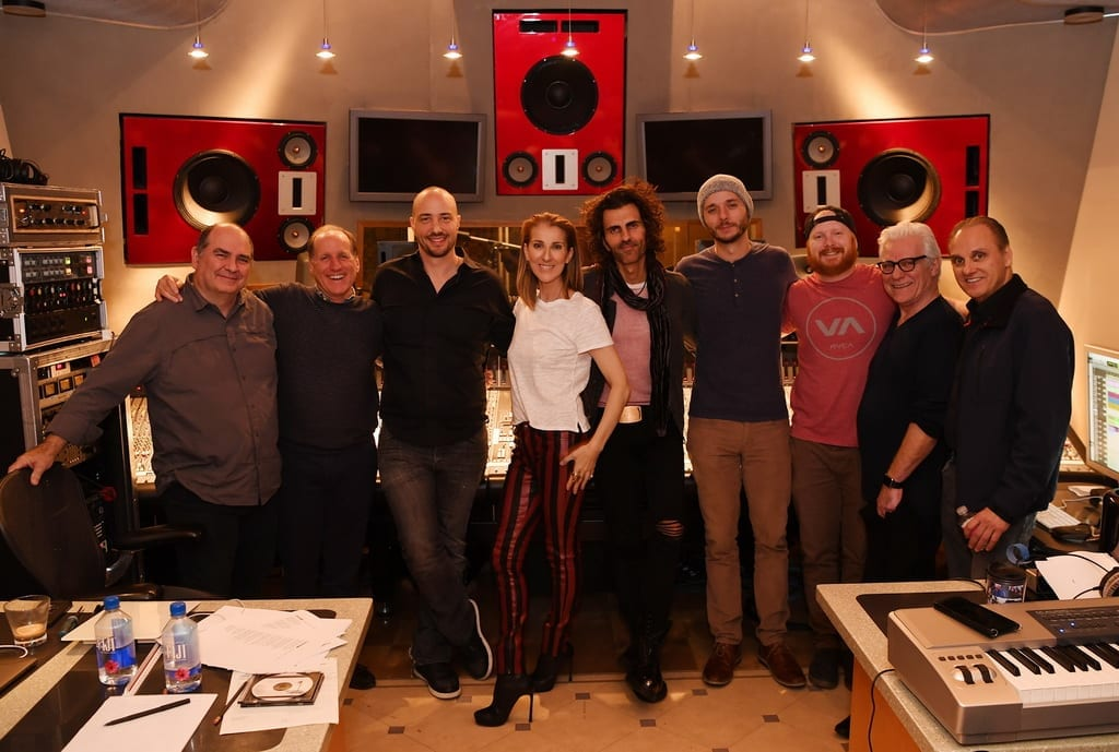 Celine Dion and Production Team