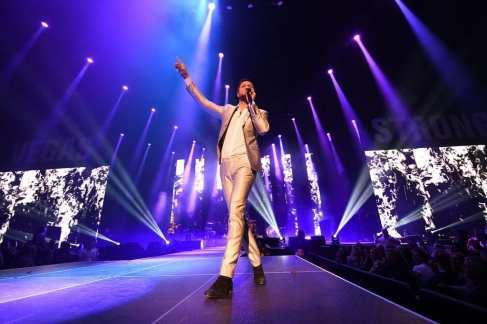 Dan Reynolds of Imagine Dragons Sings at Vegas Strong Benefit Concert