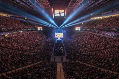 T-Mobile Arena During Vegas Strong Benefit Concert