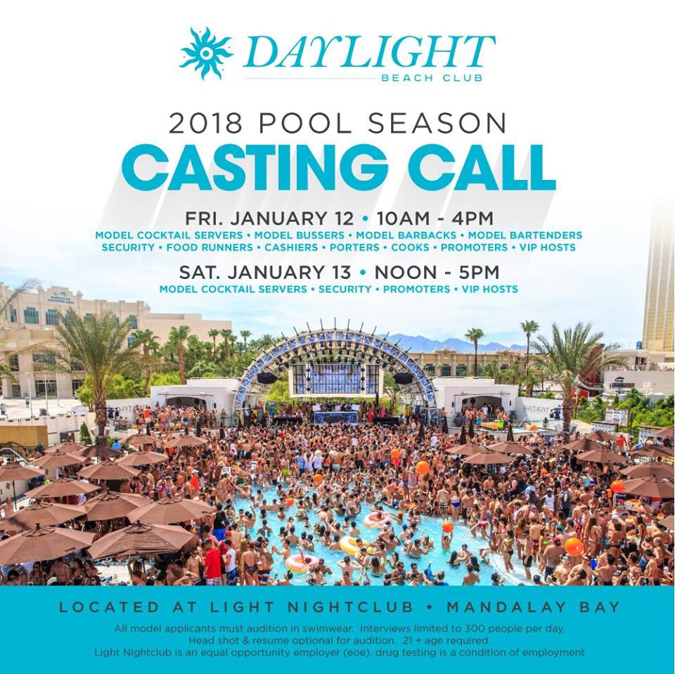 Daylight Beach Club 2018 Pool Season Casting Call