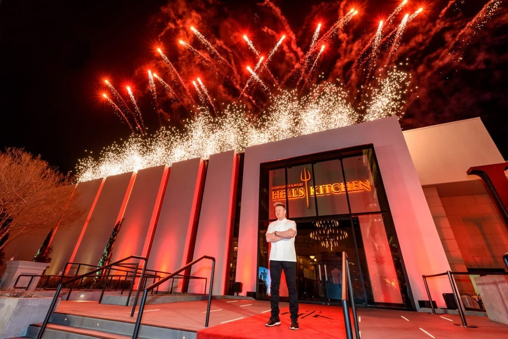 Gordon Ramsay Hell's Kitchen Restaurant at Caesars Palace Makes Fiery Debut