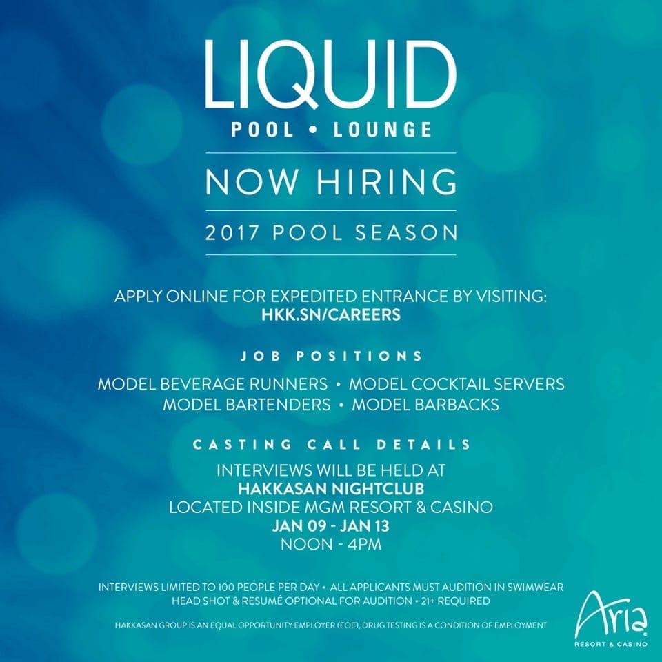 Liquid Pool Lounge Auditions