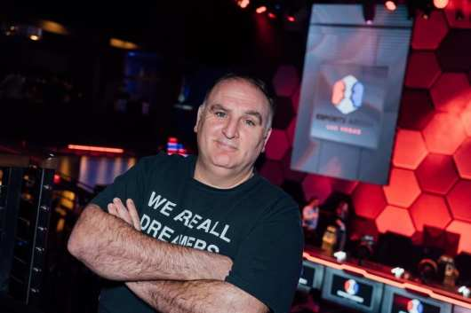 Chef José Andrés designed a unique food and beverage for Esports Arena Las Vegas, specifically crafted with gamers in mind