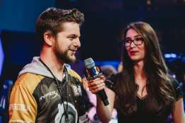 John BaRRaCCuDDa Salter of Spacestation Gaming at Esports Arena Las Vegas with reporter Ovilee May