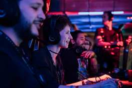 Local gamers partake in the grand opening festivities on March 22, 2018 at Esports Arena Las Vegas