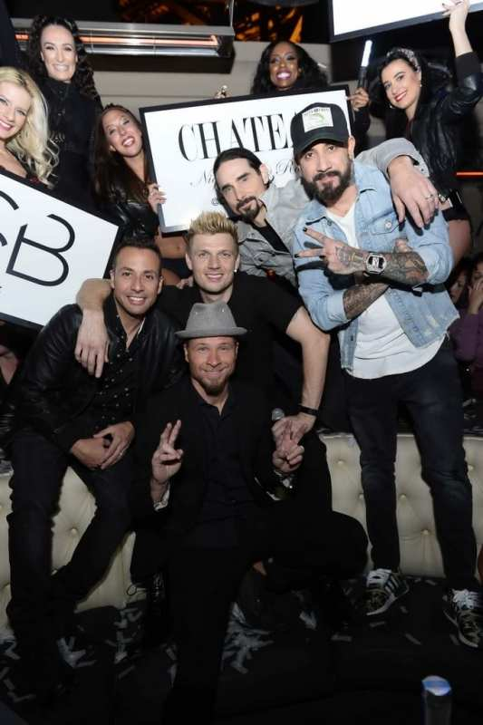 Backstreet Boys in Chateau VIP Booth