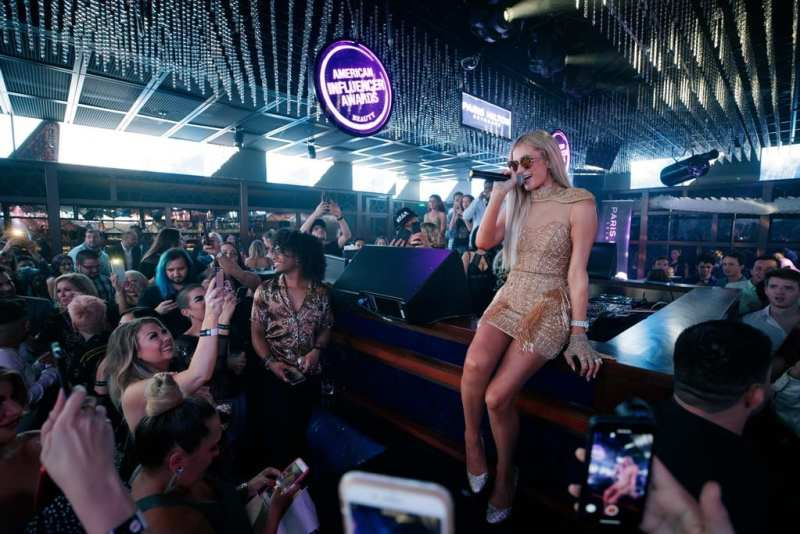 Paris Hilton Greets Fans at the Ling Ling Club Inside Hakkasan Las Vegas Nightclub