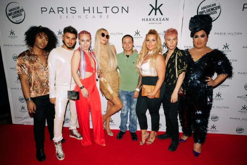 Paris Hilton and Beauty Influencers at Hakkasan Las Vegas Nightclub
