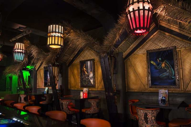 The Golden Tiki interior