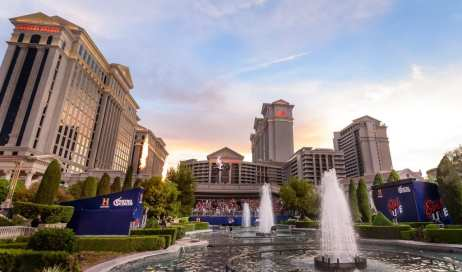 Travis Pastrana Jumps Caesars Palace Fountains as Tribute to Evel Knievel