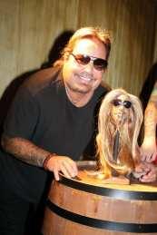 Vince Neil with shrunken head