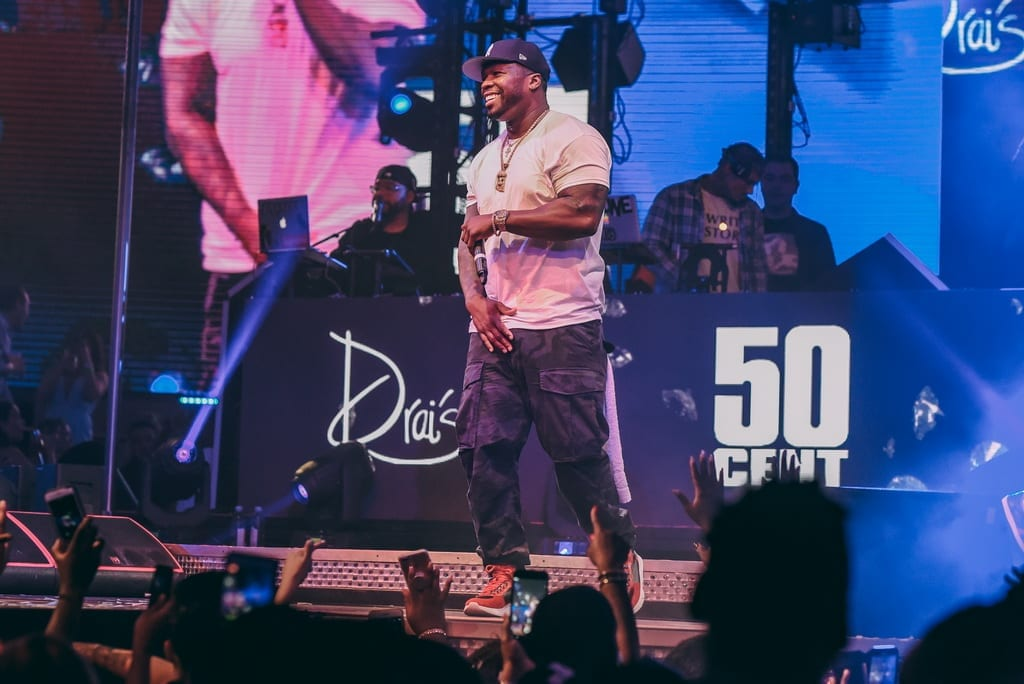 50 Cent Performs at Drai's for the Launch of Le Chemin Du Roi