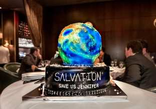 Jennifer Finnigan's Salvation-themed birthday cake.