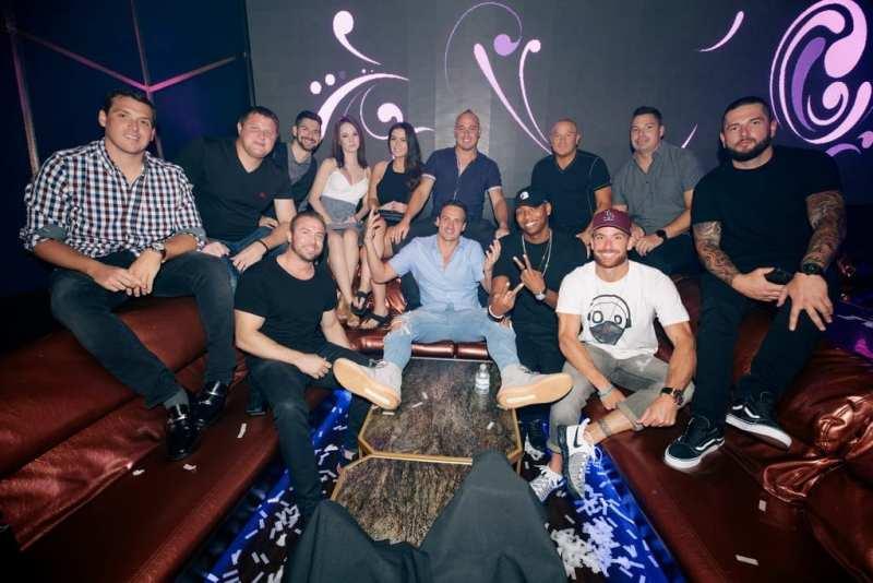 Ryan Lochte at Hakkasan Las Vegas Restaurant and Nightclub