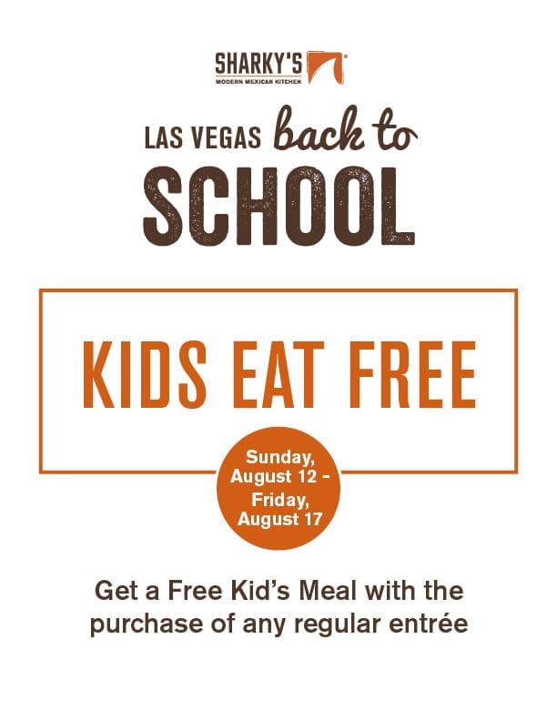 Sharky's Modern Mexican Kitchen - Back to School