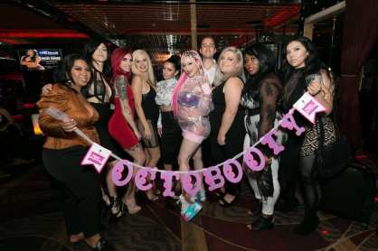 Daizha Morgann with Friends in Crazy Horse III VIP Lounge