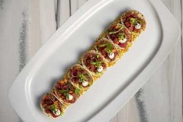 Top of the World - Tuna Tartare Tacos_