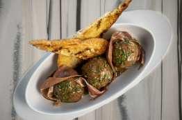 Top of the World - Turkey, Ham & Swiss Meatballs