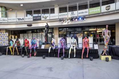 Las Vegas Fashion Council - Painted mannequins by local artists on display and up for bid during silent auction. Photo Credit_ Joel Cada