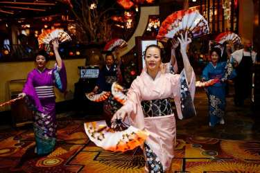 Dancers perform traditional Japanese dance at Su Casa opening ceremony