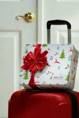 Ethel M Christmas 2018 - Luggage At The Door